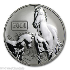 2014 TOKELAU - LUNAR YEAR OF THE HORSE 1OZ REVERSE PROOF SILVER .999 BEAUTY ART