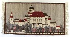 More details for ksiaz castle / architecture vintage polish folk art textile wall hanging / rug