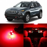 14 x Ultra RED Interior LED Lights Package For 2014 - 2018 Jeep Cherokee  +TOOL