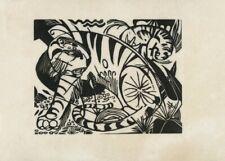 Tigers, 1912, FRANZ MARC, Cubism, Expressionism Art Poster