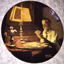 "Norman Rockwell ""Old Man Playing Solitaire"" General Electric Plate 1986"