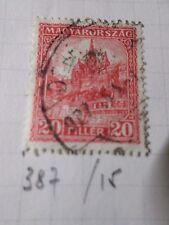 HONGRIE 1926, timbre CLASSIQUE 387A, CATHEDRALE oblitéré, VF CANCEL STAMP