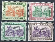 Guinea 1965 Sc# 372-75 set New York Ehibition pavilion of Guinea village MNH