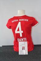 Bayern München Trikot, Dante signiert, Autogramm, Fußball, Neu, Bundesliga 38-40