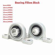 Zinc Alloy 8/10/12/15/17/20-30mm Bore Ball Bearing Pillow Block Mounted Support