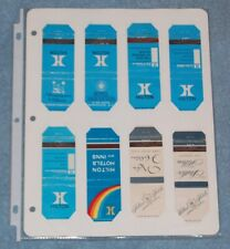 Lot #3 of 8 Different Hilton Match Book Covers