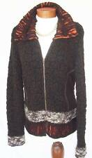 ARTSY/HIPPIE/BOHO Cardigan Sweater Wmns Sz M Zip Front Soft Yarns Super Cool