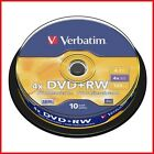 Verbatim DVD+RW 4.7GB 4x Velocidad 120min Regrabable DVD Eje Pack 10 (43488