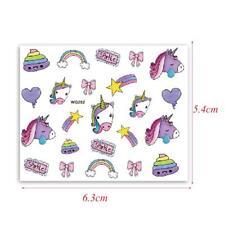 Nail Art Pegatinas Calcomanías de agua transfiere Unicornios estrellas Arco Iris arcos Star WG252
