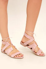 Steve Madden Chely Pink Sandal with Clear Heel  8M
