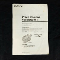 Sony Handycam CCD-TR618/TR818 Manual Guide Operating Instructions