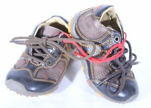 GEOX RESPIRA Size 4.5 Brown Leather Baby Shoes Sneakers UK 3.5  EUR 20