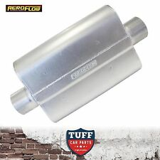 "Aeroflow 5000 Series Steel Muffler 2.5"" Center Inlet Center Outlet AF5011-250"