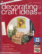 Decorating & Craft Ideas Made Easy Magazine Sept 1974 ~ Multi-Crafts Hip Mod