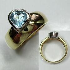 598 - Dekorativer Ring aus Gold 585 mit Topas -1064/19-