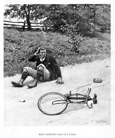 BICYCLE ACCIDENT WHAT HAPPENED BY A. B. FROST 1897 BIKE