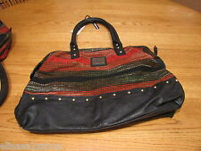 O'Neill womens juniors purse handbag tote bag black red brown RARE new nwt oneal