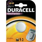 1 pila de botón CR1616 Duracell - pila de litio 3V DLC 2024