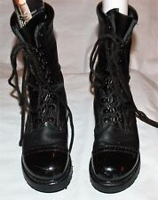 CORCORAN 1520  BLACK LEATHER U.S.A. MILITARY COMBAT CAP TOE FIELD JUMP BOOTS 7 M