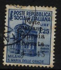 Poste Italiane Imperi Liberata - 24.4.45 - Lire 1,25 usato
