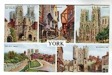 York - Multiview Photo Postcard c1950s by J. Salmon
