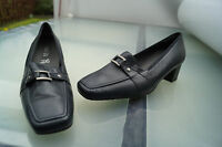 ARA Damen Comfort Schuh Slipper Pumps Leder marine Einlagen Gr.6 H 39,5 NEU +3