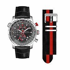 Rotary GS03641/04/KIT Men's Interchangeable Chronograph Leather Strap Watch.
