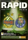 EUROPA LEAGUE MATCH PROGRAMM Rapid Wien - FC PORTO 02.12.2010