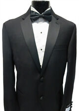 Black Calvin Klein Mens Fashion 2 Button Tuxedo Wool Jacket Tux Blazer Overstock