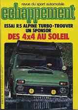 ECHAPPEMENT n°157 11/1981 R5 ALPINE TURBO
