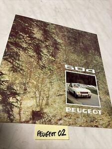 Peugeot 504 L GL Ti 1974 catalogue prospectus brochure de vente publicité
