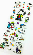 Cool Snoopy Dog Play Puffy 3D Stickers  Fun for pencil case diary book lunchbox