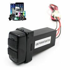 For MITSUBISHI Car 5V 2.1A Dual USB Port Socket GPS Cell Phone Charger Hot