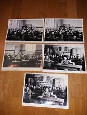 photos anciennes : 5 photos de classe à Gauchy,  années 50, vintage