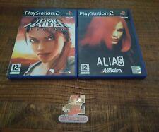 lot 2 jeux vidéo Sony Playstation 2 tomb raider alias ps2 complet super état