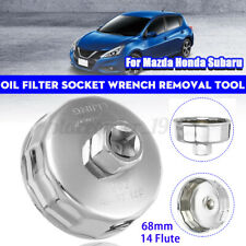Oil Filter Socket Wrench Cap Removal Tool 68mm 14 Flute For Nissan Honda  /