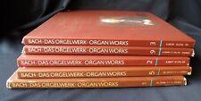 BACH DAS ORGELWERK LPs Vol 1 2 3 5 9 Organ Works With Inserts Telefunken Records