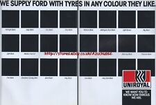 "Uniroyal Tyres ""We Supply Ford Tyres In Any Colour"" 1985 Magazine Advert #3465"