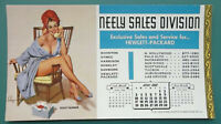 PIN-UP GIRL on Phone Call Right Body #s - APRIL 1966 INK BLOTTER Neely HP Salaes