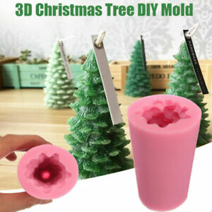 3D Christmas Tree Candle Baking Chocolate Soap Silicone Craft DIY Mold Mould