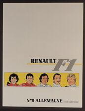 Graton Michel Vaillant pub Renault 9 Formule 1 Allemagne Hockenheim 1989
