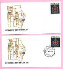 AUSTRALIA 1983 PAIR of PSE's #066 - FDC & Mint - Centenary of the BOYS BRIGADE