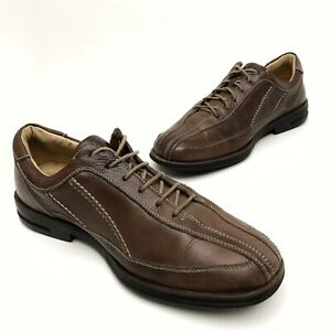 ✅❤️✅@ Sandro Mens 10.5 D Brown Leather Lace Dress Shoes Oxfords Comfort Athletic