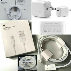 Origin iPhone iPad Apple Certified Charger 2.4amp 3F, 6FT Cable and 12W Adapter