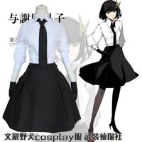 Hot Anime Bungo Stray Dogs Akiko Yosano Cosplay Costume Whole Set Uniform