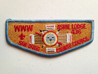 ASHIE OA LODGE 436 SCOUT PATCH SERVICE FLAP SAN DIEGO COUNTY COUNCIL VERT BLUE