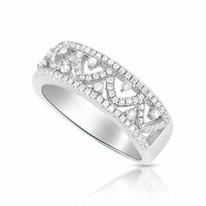 Sterling Silver Simulated Diamond Filigree Vine Ring