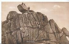 Cornwall Postcard - Logan Rock - Showing Three Men on The Top   BH3657