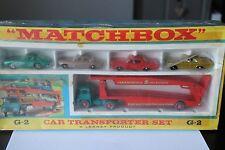 MATCHBOX GIFTSET G-2 * CAR TRANSPORTER SET  * OVP * MINT * LESNEY
