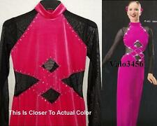 Oxygen Dance Costume Velvet Competitor Jumpsuit Scrunchie Clearance Adult Large